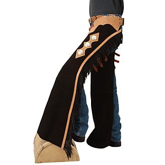Tough-1 Suede Leather Reining Show Chaps