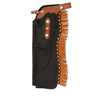 Tough-1 Smooth Leather Reining Cowboy Chaps