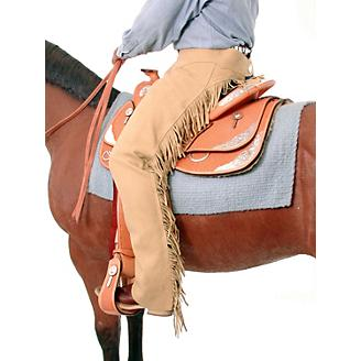 Tough-1 Synthetic Suede Western Show Chaps
