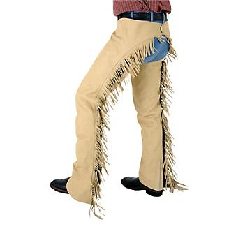 Tough-1 Luxury Synthetic Suede Western Show Chap