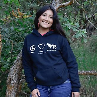 Peace Love Horses Hoodie