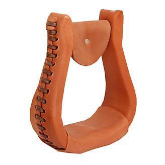 American Saddlery Leather Covered Visalia Stirrups
