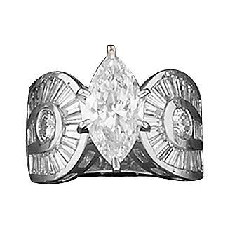 Kelly Herd Marquise Stone Horseshoe Ring