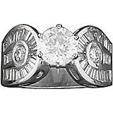 Kelly Herd Round Stone Horseshoe Ring