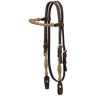 Royal King Rolled Rawhide Browband Headstall