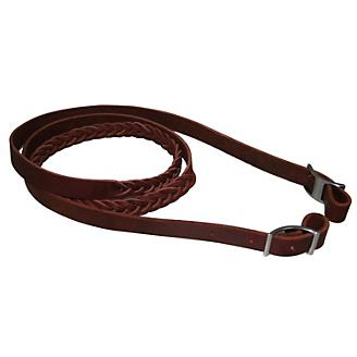 Western 4-Plaited Leather Roping Rein