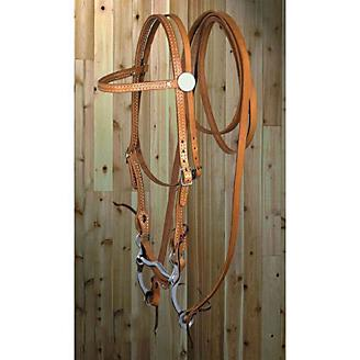 American Saddlery Stitched Browband Headstall Set