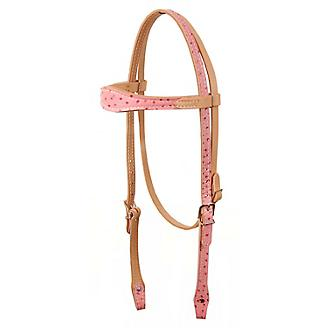 American Saddlery Scalloped Ostrich Headstall