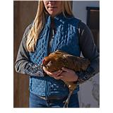 Outback Trading Grand Prix Quilted Vest L  Grey