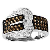 Kelly Herd Pave Buckle Ring Chocolate