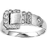 Contemporary Buckle Ring Stainless Steel 7