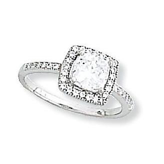 Kelly Herd Cubic Zirconia Square Ring