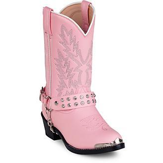 Durango Kids Pink Rhinestone Western Boots