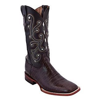 Ferrini Mens Print Alligator Square Toe Boots