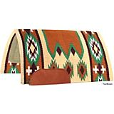 Mustang Laredo Navajo Wool Saddle Pad Tan/Brown