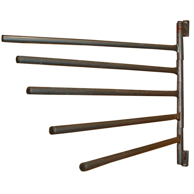 Swinging blanket racks