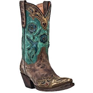 Dan Post Ladies Vintage Bluebird Western Boot