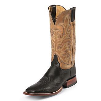 Justin Mens AQHA 13in Sq Toe Antique Boots