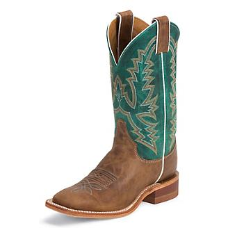 Justin Ladies Bent Rail 11in Turquoise Boots