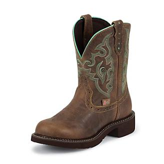 Justin Ladies Gypsy Rnd Toe 8in Jaguar Boots