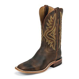 Tony Lama Mens Americana Sq Toe Tan Boots