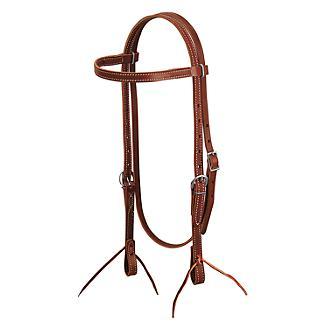 Weaver Brown Latigo Leather Browband Headstall