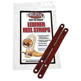 Weaver Burgundy Latigo Leather Heel Straps