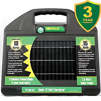 Powerfields 12V 10 Acre Solar Energizer .15 Joules