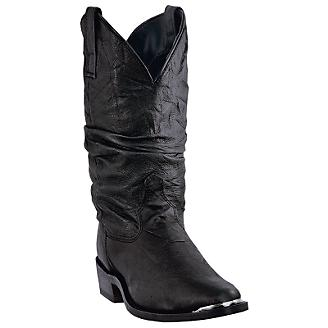 Dingo Mens Amsterdam Rnd Slouch Blk Boots