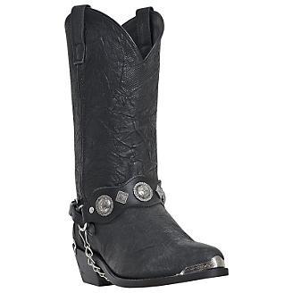 Dingo Mens Suiter Snip Toe Black Boots