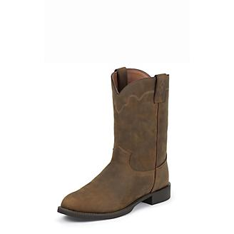 Justin Mens Roper Tan Apache Boots