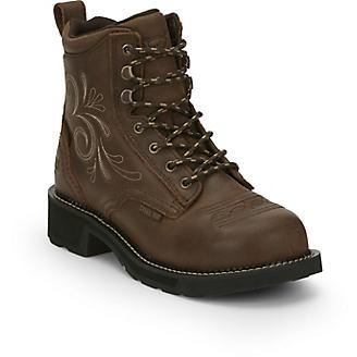 618fd006720 Justin Ladies Gypsy Steel Toe Wtrprf Work Boots 5 - Statelinetack.com