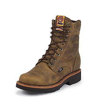 Justin Mens J-Max Lace Up 8in Work Boots