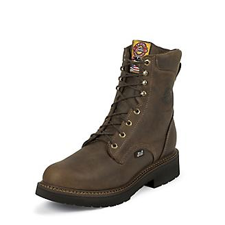 Justin Mens J-Max Steel Lace 8in Work Boots
