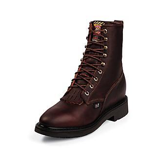 Justin Mens Dbl Cmfrt Rnd Briar Work Boots