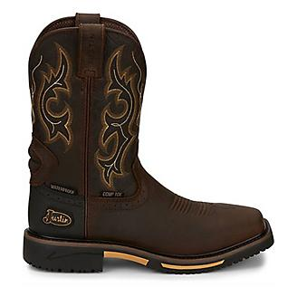 Justin Mens Hybred Comp Rustic Work Boots