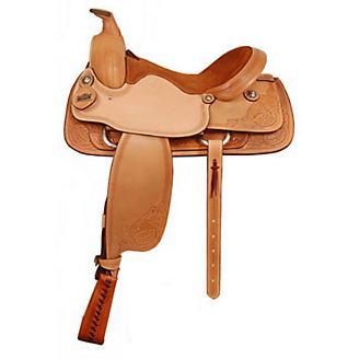 Big Horn Floral/Acorn Tooled Roper Saddle