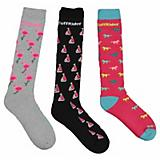 TuffRider Flamingo/Boat/Horse Socks 3 Pack