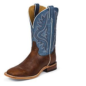 19dad052d1d Tony Lama Mens Square Toe Pecan Bison Boots 9B - Statelinetack.com