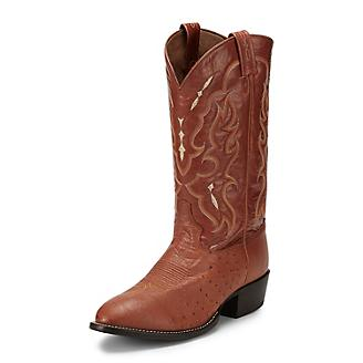 Tony Lama Mens Peanut Smooth Ostrich Boots