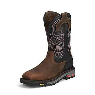 Justin Mens Commander X5 Steel Black Boots