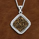 Kelly Herd Crushed Stone Gold Druzy Necklace