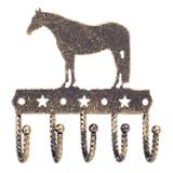 Tough-1 Key Rack w/Equine Motif Gold Quarterhorse
