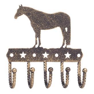 Tough-1 Key Rack w/Equine Motif Gold Quarterhorse