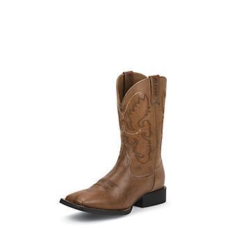 32e444090e31 Justin Mens Farm/Ranch Sq Toe Brown Boots