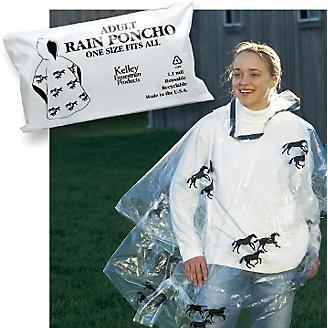 Economy Hooded Rain Poncho