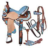 Silver Royal Macaelah Barrel Saddle 5-PC Package