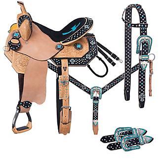 Tough-1 Cheyenne Barrel Saddle 5 Piece Package