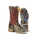 Tin Haul Ladies Paisley Square Toe Boots