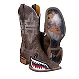 Tin Haul Mens Toastin A Gnarly Shark Sq Toe Boot